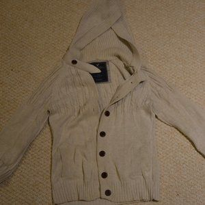 American Eagle white knit cardigan
